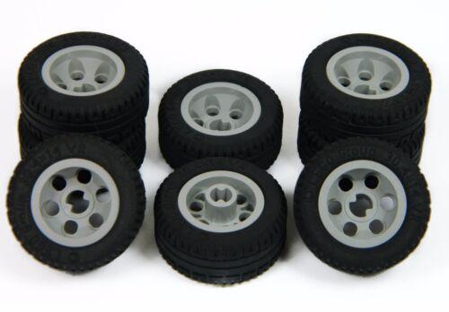 LEGO TECHNIC WHEELS set of 8 30.4x14mm VR Wheel Tire large tyre grey