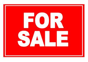4 X For Sale-rouge-signe Étiquette Autocollante Vinyle Imperméable Stickers-afficher Le Titre D'origine Aiypbwbo-07233400-479912049