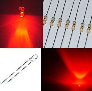 1-000-diodi-led-3-mm-rosso-alta-luminosita-1000-RESISTENZE-PROFESSIONALI