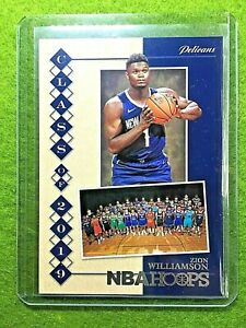 ZION-WILLIAMSON-ROOKIE-CARD-JERSEY-1-PELICANS-RC-2019-20-NBA-Hoops-SILVER-FOIL