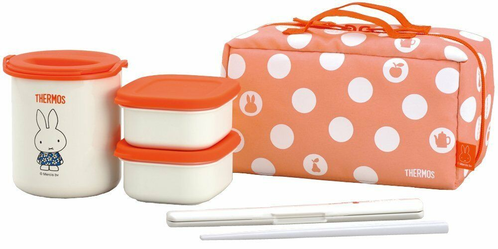Thermos Isolé Thermique Miffy LUNCH BOX Bento Food Container Pot Chaud Japon