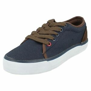 Mens Lambretta Simba Lace Up Casual Navy Blue Summer Canvas Shoes Uk Size 6 & 14 PüNktliches Timing Kleidung & Accessoires