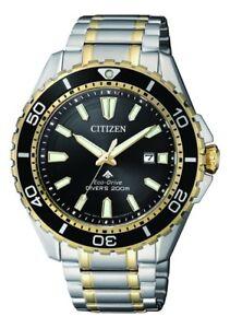 CITIZEN BN0194-57E Eco-Drive Mens Solar Diver's Watch WR200m RRP $650.00