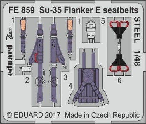 Eduard Zoom FE1129 1//48 Sukhoi Su-27S ceintures de sécurité en acier Kitty Hawk