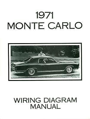 1971 Chevrolet Monte Carlo Wiring Diagram Manual Ebay