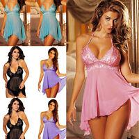 Sexy Lady Lingerie Lace Babydoll Dresses Sleepwear Nightwear Underwear PLUS SIZE