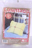 Lasetta Plus Baby Teddy Pillow Easy Yarn Craft Yellow L61 No Knit Or Crochet