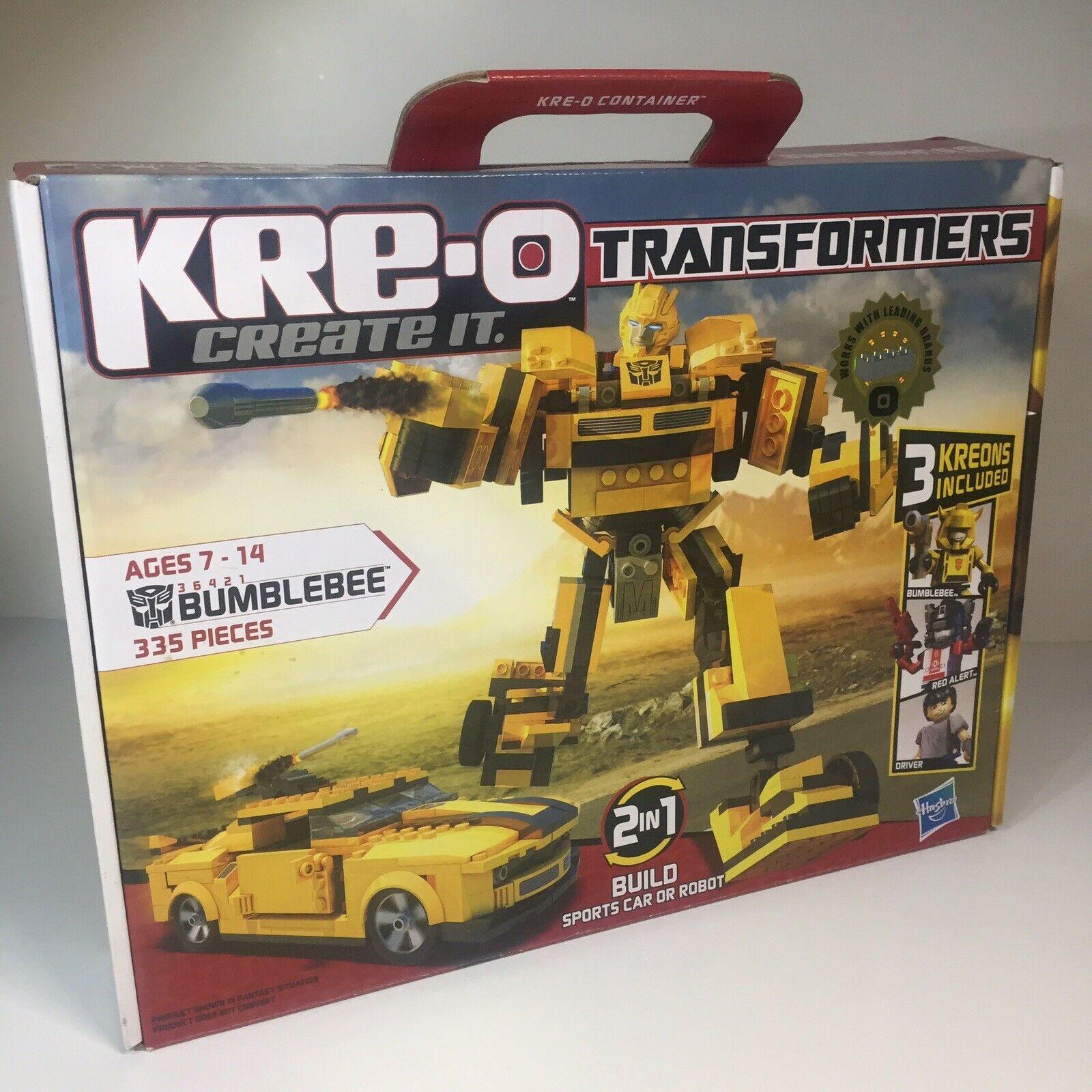 NEW Transformers KRE-O Bumblebee Bumblebee Bumblebee 2 in 1 Sports Car or Robot 3 Kreons 36421 8a4667