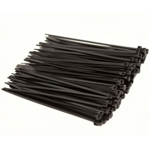 Fascette per cavi 100 ST UV stabile lunghezza 100mm larghezza 2,5mm portata 8,2 kg Nero