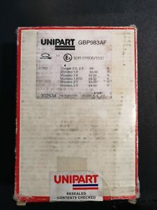UNIPART-GBP983AF-REAR-BRAKE-PADS-FOR-FORD-COUGAR-1999-ON-AND-MONDEO-93-2000