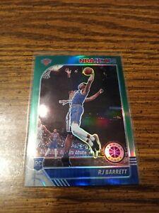 2019-20 NBA Hoops Premium Stock RJ Barrett Green Prizm Rookie Card
