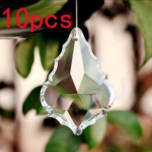 10pcs-set-Teardrop-Chandelier-Clear-Crystal-Pendants-Glass-Decor-Light-Fixture
