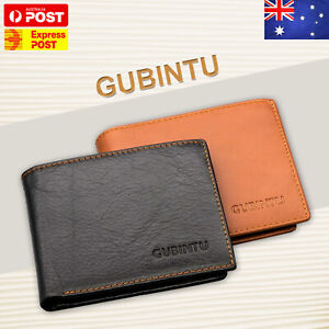7543c6926283 Details about Genuine Leather Mens Purse Bifold Credit Card Wallet Anti  Scan RFID Blocking