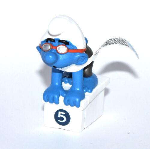 """20736-/""""Schwimmer/""""-/""""Swimmer Smurf/""""-Schleich-Schlumpf-NEU mit Fähnchen-NEW*tag!!"""