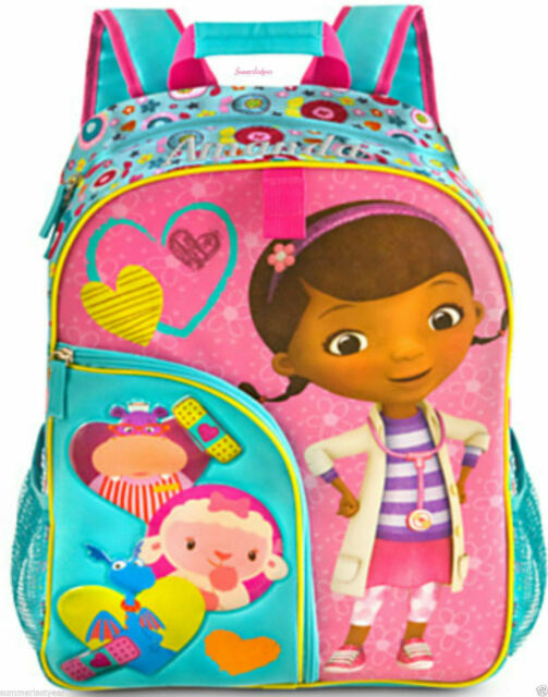 d8c2cbf8648 Disney Junior Doc McStuffins Backpack Toys Doctor School Store Lambie  Hallie NEW