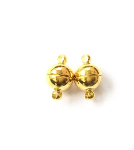 Beading Supplie 10mm Gold Plated Round Smooth Magnetic Clasp
