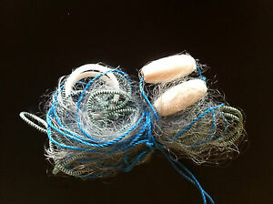 Gill-fishing-net-mono-sea-fishing-35-feet-long-fully-rigged-new