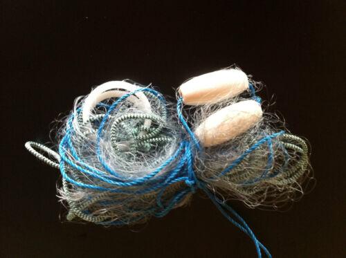 15 feet long POCKET GILL NET new sea fishing fully rigged mono Survival kit