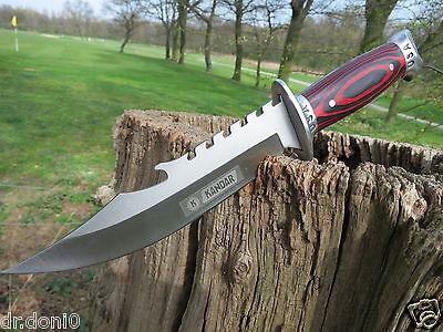 Coltello Da Caccia Coltello Knife Bowie Coltello Cuchillo Couteau Kandar Hunting Usa- Aspetto Attraente