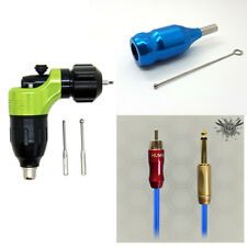 New Combination Cartridge Rotary Tattoo Gun With Cartridge Grip+ RCA Line Supply