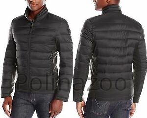 Guess men's Jacket Lightweight Puffer winter Black Coat NEW ...