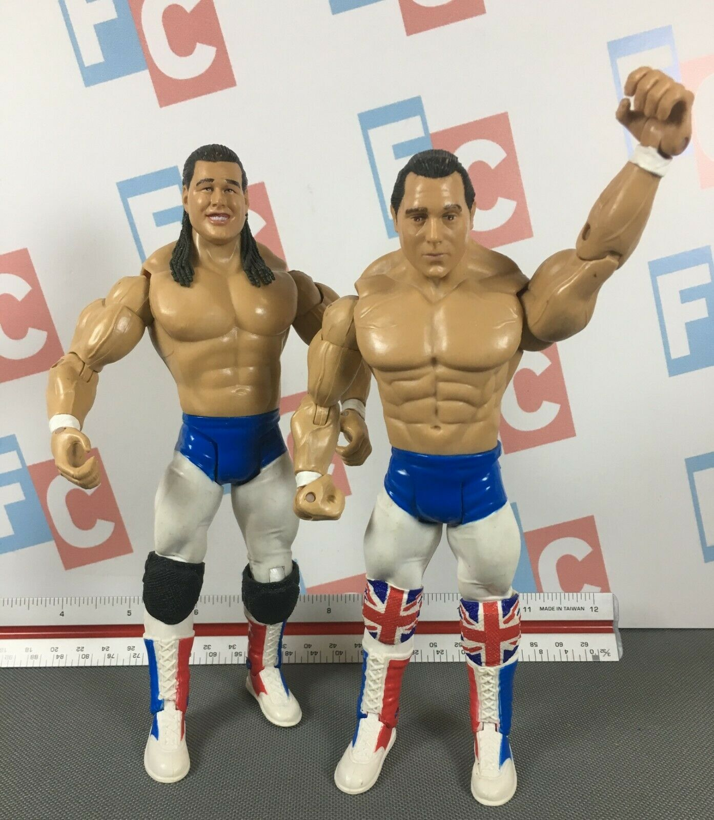 WWE Wrestling Jakks classeic Superestrellas British Bulldogs Dynamite Kid Bulldog