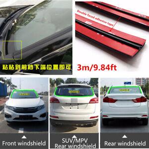 3m//9.84ft Car Windshield Sunroof Triangular Window Waterproof Sealed Strip Trim