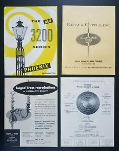 Vintage 1969 Catalog Grow and Cuttle Brass Lamps Candlesticks Candelabra Sconce