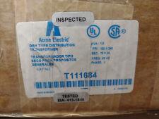 Acme Electric T111684 Distribution Transformer 15kva 120240vac 1224vac