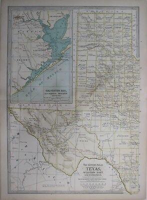 1924 RADIO STATION MAP Dallas Fort Worth El Paso Tyler Dublin Abilene Waco TX XL