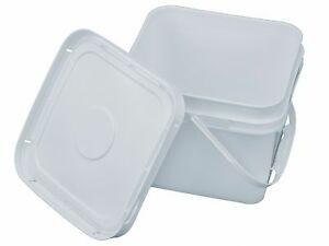2 Gallon Square Bucket with Snap on Lid Food Grade eBay
