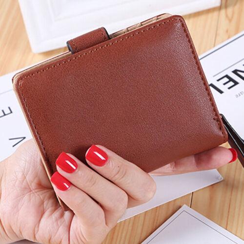 Women Short Small Money Purse Wallet Lady Leather Coin Card Holder Bag Handbag