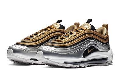 Nike AIR MAX 97 se Metallic AQ4137 700 Donna ORO MM Argento Nero SZ 7, 7.5 | eBay