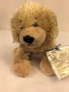 GANZ-Webkinz-Golden-Retriever-Dog-Plush-7-034-Stuffed-Animal-Sealed-Code-Lovey