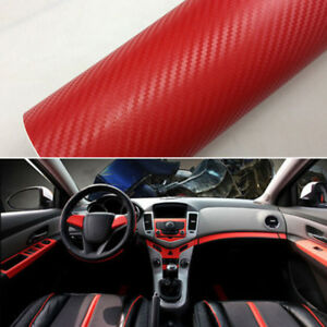 15 x39 car interior panel carbon fiber vinyl wrap sheet roll film sticker decal ebay. Black Bedroom Furniture Sets. Home Design Ideas