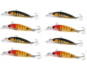 8-x-Whiting-Lures-Minnow-Fishing-Lure-Flathead-lure-Bream-Lure-Bass-Lures-New