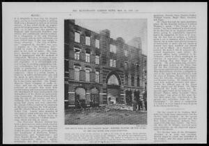 1902-Antique-Print-LONDON-Harrow-Road-Fire-Dixon-039-s-Furniture-Firemen-279