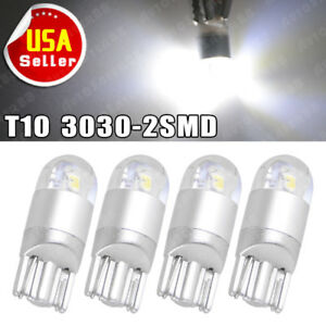T10 194 168 2825 W5W 3SMD LED Bulbs Trunk Light(Pack of 12) Map Light White 6000k Super Bright 3030 Chipsets Used for Dome Light Door Courtesy Light License Plate Lights