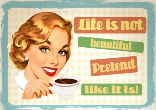 RETRO VINTAGE QUOTE POSTER Funny Prints Pub Home Wall Art A3 A4 FRAMED OPTIONS