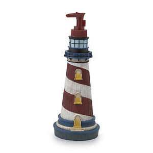Blue Lighthouse Sailboat Compass Pattern Bath Decor Accessory Set Collection