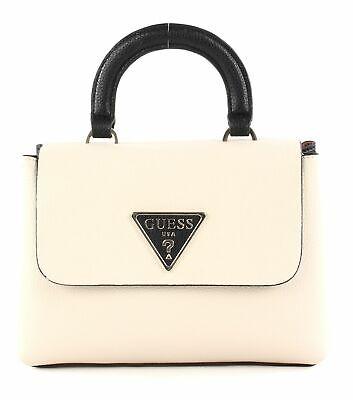 GUESS Aretha Top Handle Flap Handtasche Tasche Stone Multi Beige Schwarz | eBay