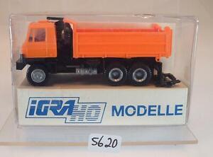 IGRA-1-87-Nr-606-Tatra-T-815-Kipper-Baukipper-orange-OVP-5620