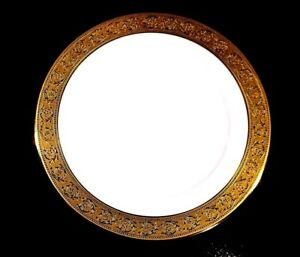 Beautiful-Haviland-Limoges-Thistle-Gold-Dinner-Plate