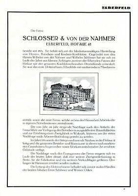 Herrenmode Schlösser & Von Der Nahmer Elberfeld 1925 Xl Reklame Werbung Kinder