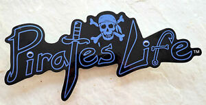 Large-PIRATE-039-S-LIFE-brand-BLUE-Skull-Bumper-Sticker-9-034-x-4-034-Di-cut-Decal
