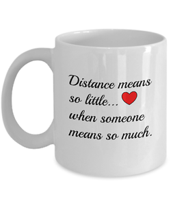 Details about Long Distance Relationship Mug Friendship Valentines Day  Boyfriend Husband Girl
