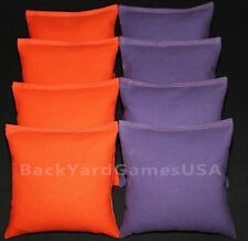 CORNHOLE BAGS Orange & Purple 8 ACA Regulation Bean Bags Clemson Tigers FREEship