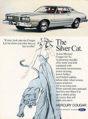 Classic Vintage Advertisement Ad H84 1972 Mercury Cougar XR-7 351-cid V8