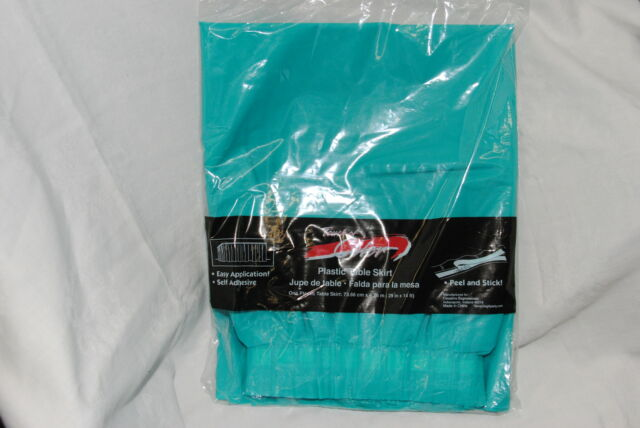 14-Feet Turquoise Creative Converting Plastic Table Skirt