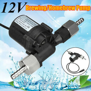 DC-12V-Brewing-Transfer-Pump-Beer-Wort-Mash-Homebrew-Plug-Adapter-Equipment